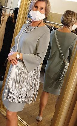 Natan vintage bluegrey tricot dress 40