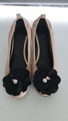Lanvin vintage ballerina beige laque