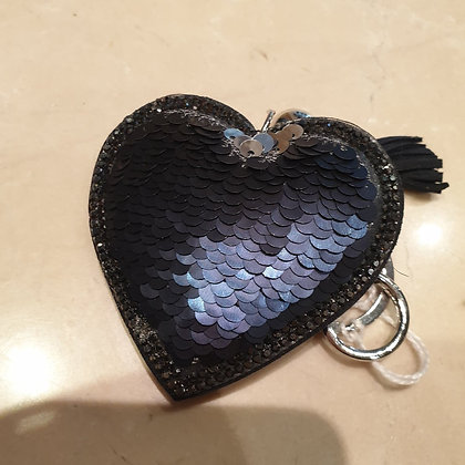 Keychain navy heart