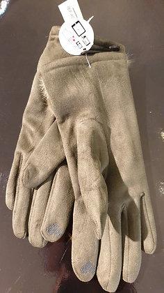 Gloves-handschoenen 'Rex rabbit ' kaki