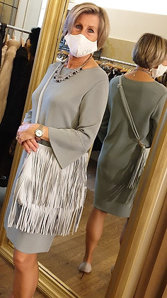 Bag lightblu leatherlook long strap incl
