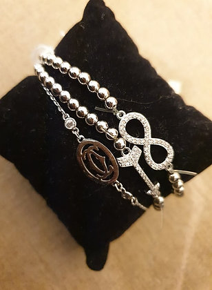 Bracelet Infinity stretch-elastic
