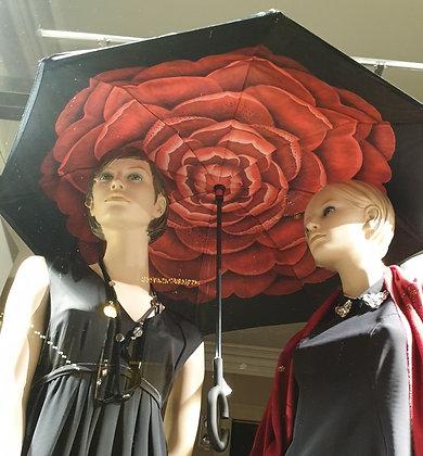 Paraplu luxe Red Flower