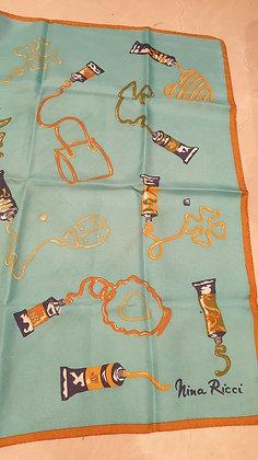 Nina Ricci silk scarf 'les Tubes'