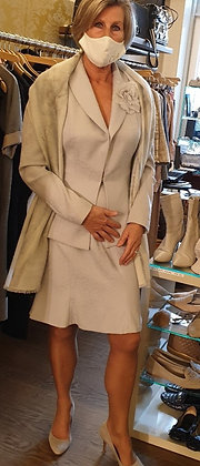 Dior Couture tailleur pearl grey vintage
