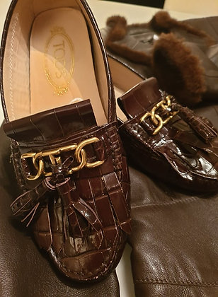 Tod's loafers crocoprint