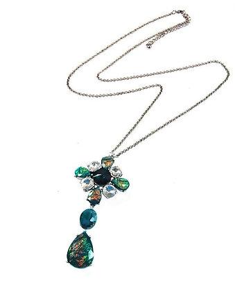 Long necklace Smaragd Swarovski