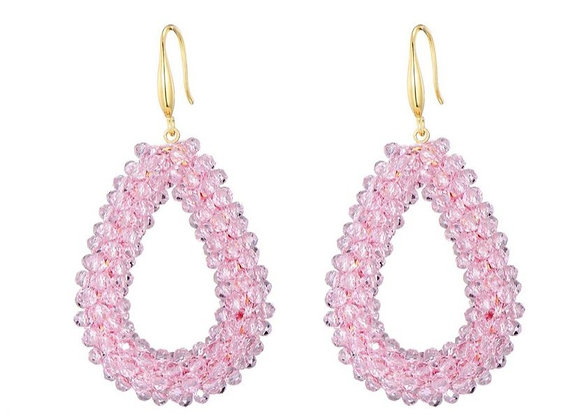 Earrings Drops Lotty pink