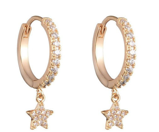 Earrings Moon and Stars gold 2