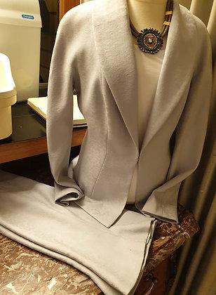 Dior (vintage) tailleur Bleu Ciel-gris