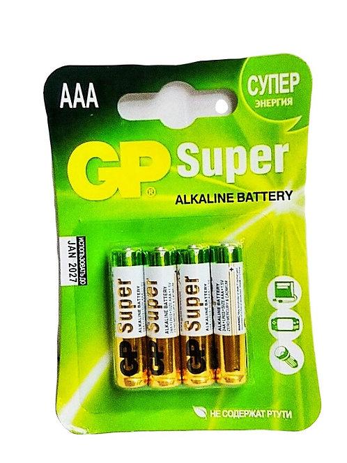 Алкалиновые батарейки GP SUPER AAA