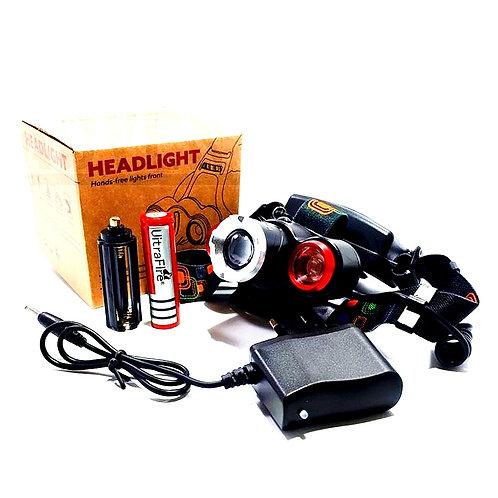 Налобный фонарь с тремя светодиодными фонарями T6