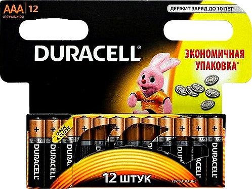 Алкалиновые батарейки Duracell AAA