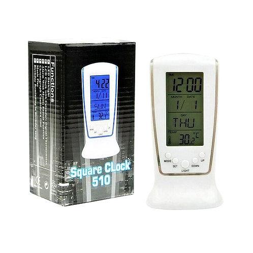 Часы - будильник Square Clock DS - 510 с подсветкой