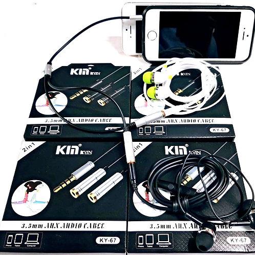 Кабель аудио - разветвитель KM KY - 57
