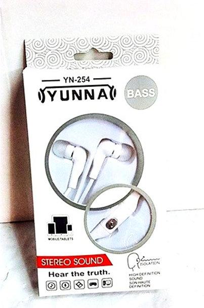 Наушники вакуумные YUNNA YN - 254
