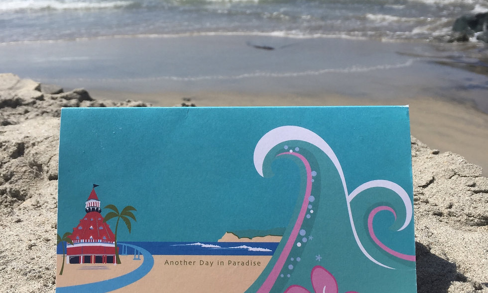 """""""Another day in Paradise"""" 6 card set"""