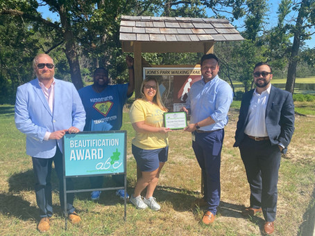 Lufkin Parks & Recreation Wins June Beautification Award