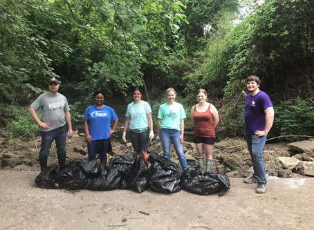 AB/C Partners Together To Clean Up Hurricane Creek