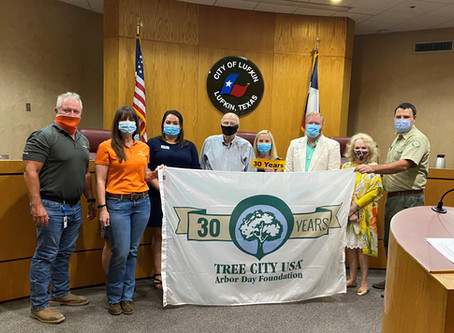Arbor Day Foundation names Lufkin Tree City USA for 30th Year