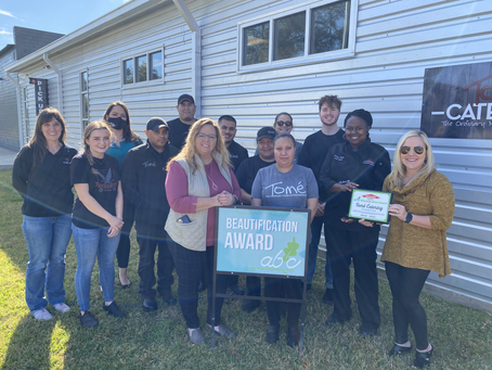 Tome Catering Wins November Beautification Award