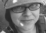 Black and white photo of Michelle Simkins