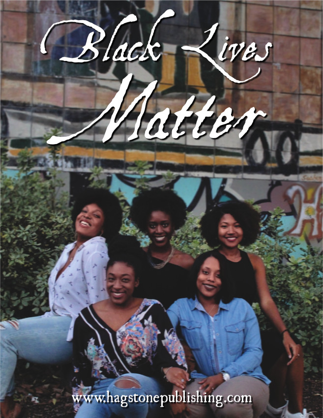 A group of black women in front of bushes and a painting on the side of a building