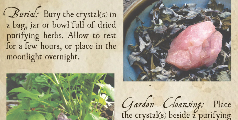 Four Ways to Cleanse Crystals with Herbs