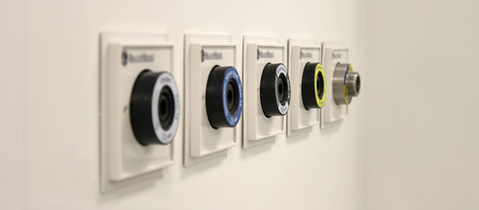 Bespoke case mounted outlets