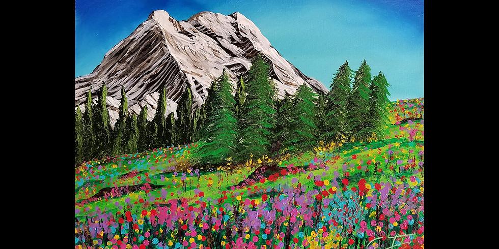 Mt. Rainier Flower Fields Canvas