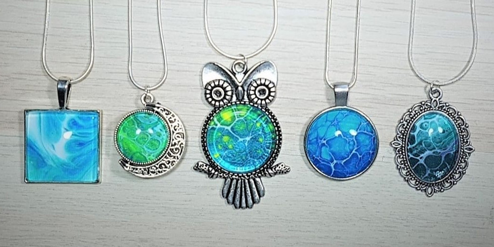Paint Pour Pendants Jewelry Workshop