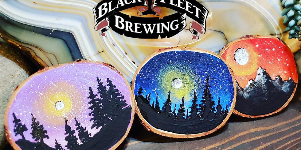 Starry Night Wood Ornament @ Black Fleet Brewing