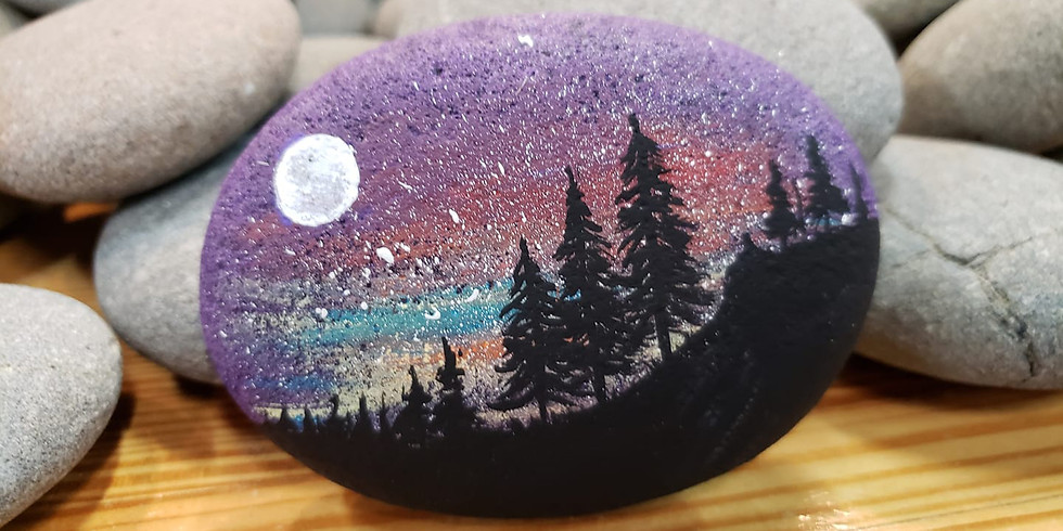 Starry Night Stones Painting Workshop