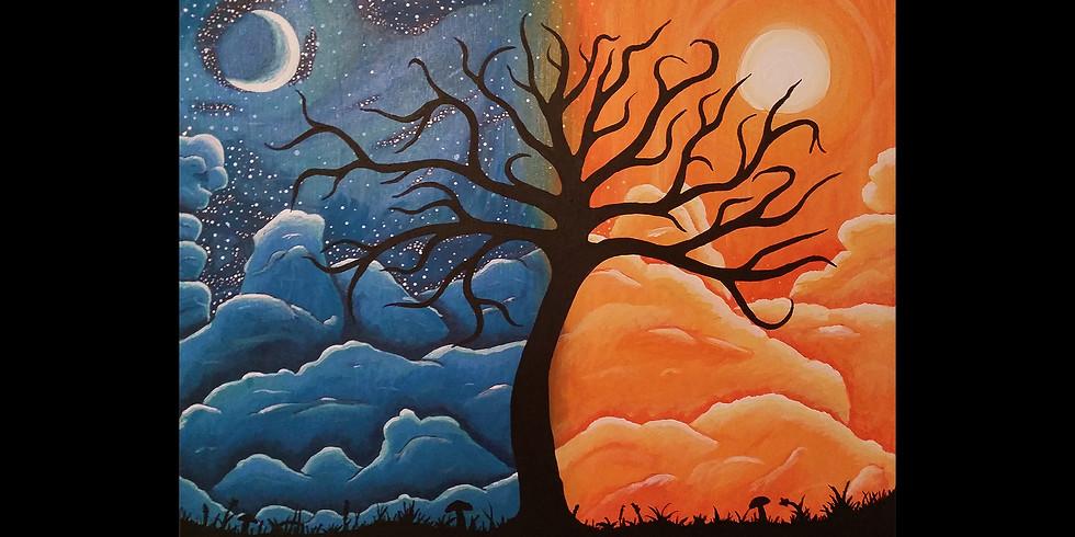 Sun & Moon Tree Canvas Workshop