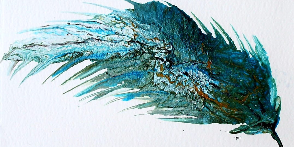 Fancy Feathers Acrylic Pour & Swipe Workshop