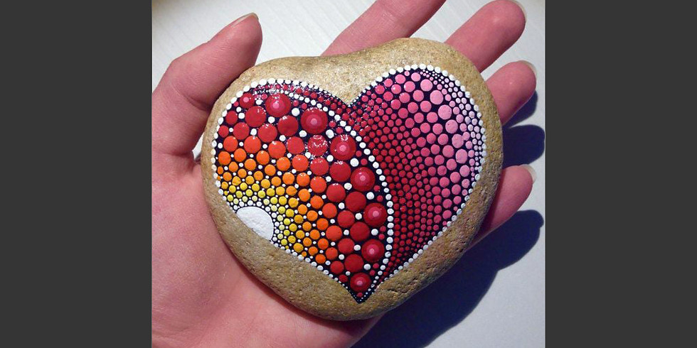 Heart Mandala Stones Workshop