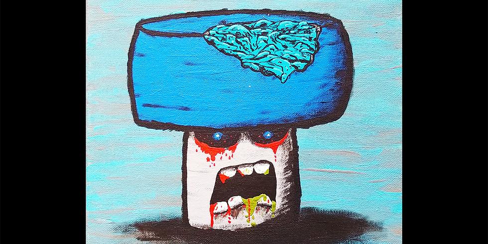 Monster Mushrooms Canvas IN-STUDIO Workshop