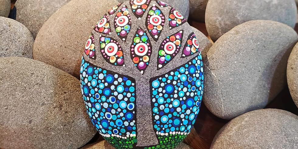 Mystic Tree Stone Dot Art Workshop