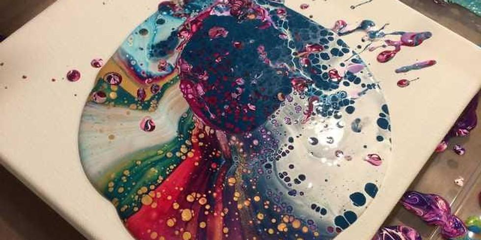 DIY Fluid Art: Acrylic Pour Canvas Workshop