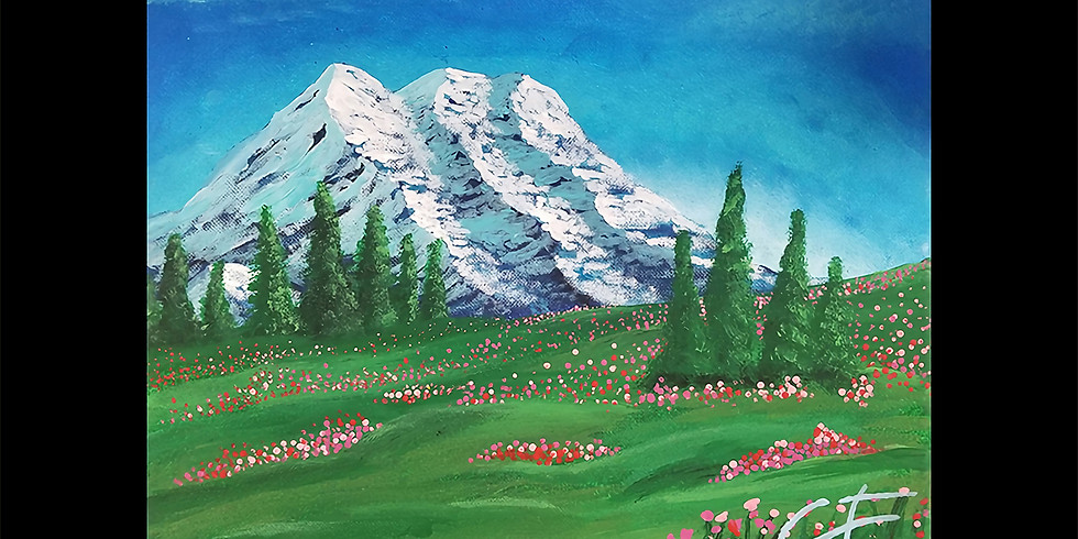 Mt Rainier Flowering Fields LIVE ONLINE Workshop