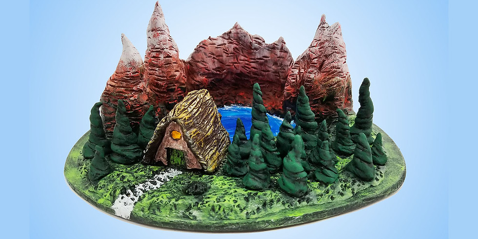 Cabin in the Woods LIVE ONLINE Clay Diorama Workshop
