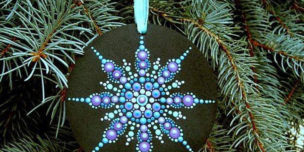 Holiday Mandala Wooden Ornaments Workshop