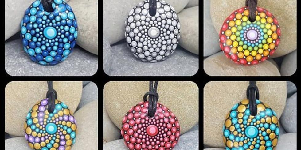 Mystical Mandala Stone Pendants