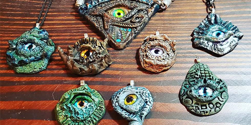 Bewitched Eye Pendants LIVE ONLINE Workshop