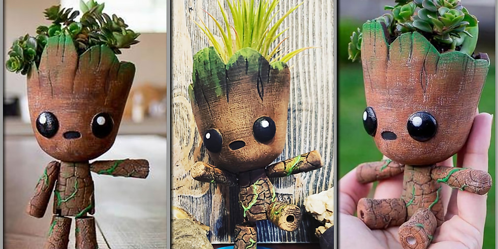 Grooty the Posable Planter LIVE ONLINE Workshop
