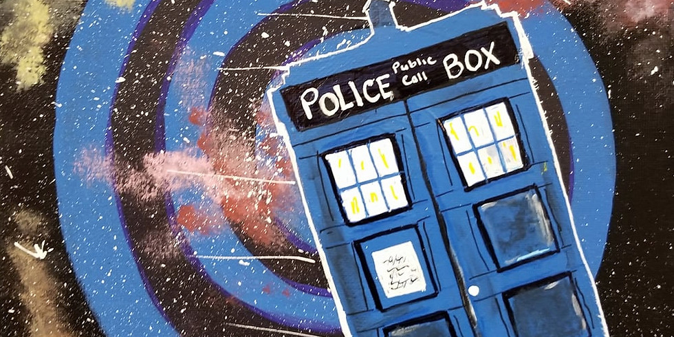Dr Who Tardis In Space - Paint And Sip
