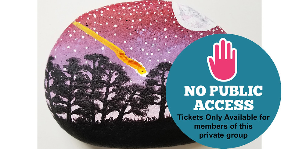 PRIVATE EVENT (NO public tickets available): Starry Night Stones LIVE ONLINE Workshop