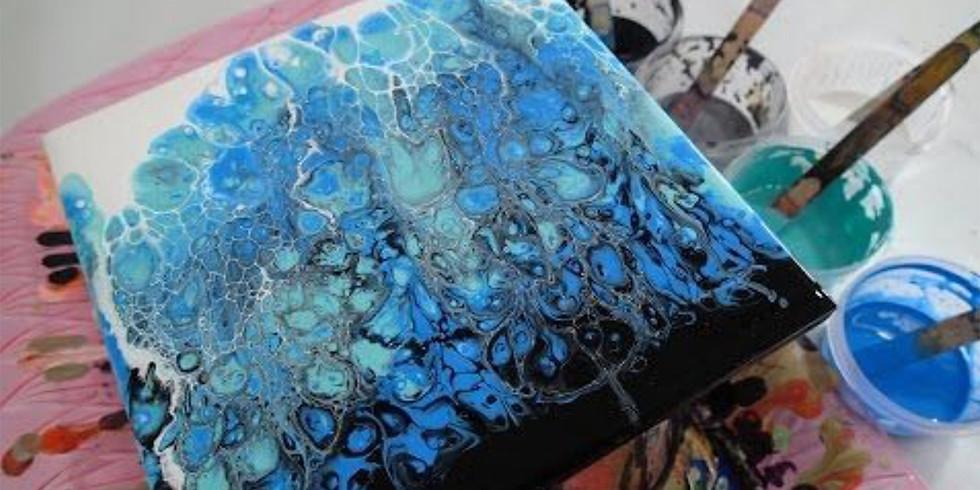 Fluid Art - Acrylic Pouring On Canvas Workshop