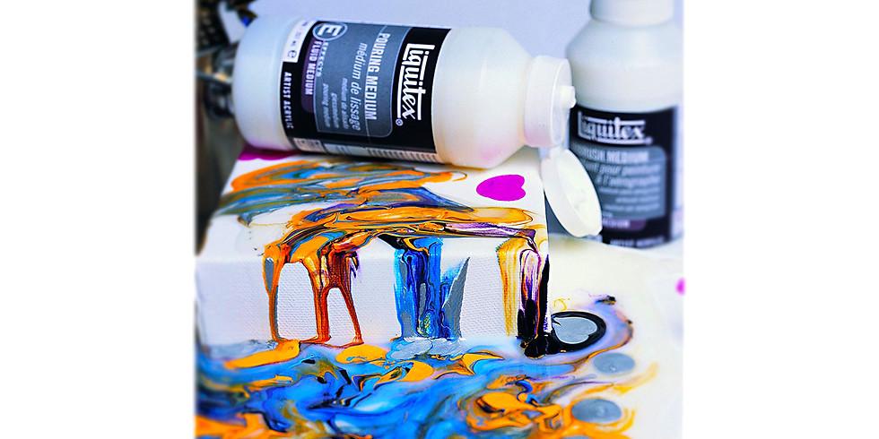 Archival Fluid Art, Acrylic Pouring Canvas Workshop