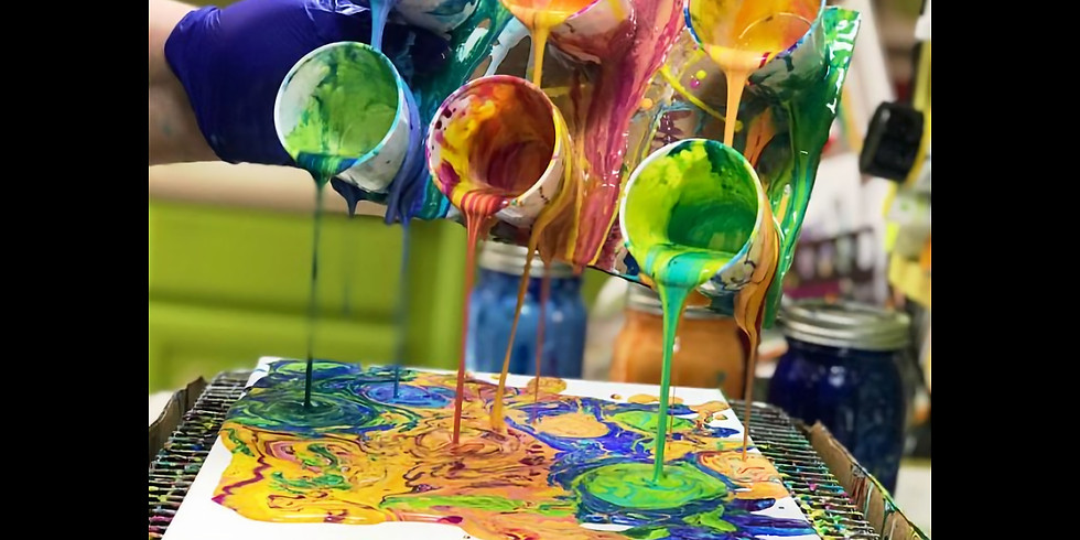 It's a Paint Pouring Party!